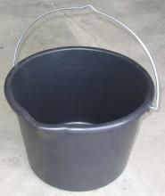 Kbelík 12 L plastový černý stavební