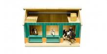 Stáj pro koníky 2 boxy KIDS GLOBE FARMING