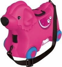 Dětský kufr a vozík růžový pejsek BIG Bobby 800055353
