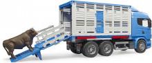 Auto SCANIA LKW přeprava zvířat BRUDER 03549