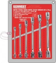 Sada klíčů s kloubovými hlavicemi 8 - 19 mm KENNEDY 6 dílná