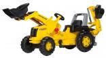 Rolly Toys Traktor šlapací NEW HOLLAND s čelním nakladačem a podkopovou lopatou