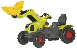 Traktor šlapací CLAAS AXOS 340 ROLLY TOYS s čelním nakladačem ROLLY TOYS