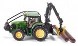 SIKU 4063 Traktor JOHN DEERE 7530 s lesní nástavbou 1:32