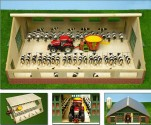 Stáj pro kravičky KIDS GLOBE FARMING