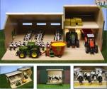 Stáj pro kravičky a přístřeškem pro stroje KIDS GLOBE FARMING