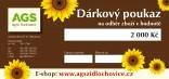 Dárkový poukaz AGS Židlochovice v hodnotě 2000,- Kč