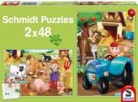 Schmidt Puzzle Farma 2 x 48 dílků