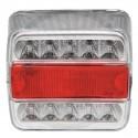 Svítilna zadní čtvercová třídílná LED 12V L,P