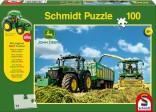 Schmidt Puzzle Traktor JOHN DEERE 7310R s řezačkou JD 8600i 100 dílků