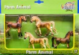 Koníci sada 4 ks KIDS GLOBE FARMING