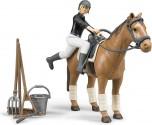 Sada figurka jezdkyně, koníka a příslušenství WORLD BRUDER 62505