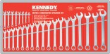 Sada očkoplochých klíčů 6 - 32 mm KENNEDY 26 dílná