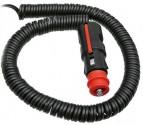 Kabel prodlužovací spirálový 12/24V délka 3,5 m k majákům