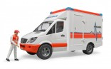 Auto sanitka MERCEDES BENZ SPRINTER s figurkou WORLD
