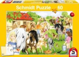 Schmidt Puzzle Statek a hřebčín 60 dílků