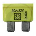 Pojistka nožová 20A žlutá DIN 72581