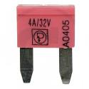 Pojistka nožová MINI 4A růžová DIN 72581