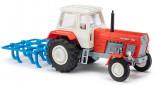 BUSCH 8712 Traktor FORTSCHRITT ZT 300 D červený s kypřičem GRUBBER 1:120