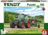 Schmidt Puzzle Traktor FENDT a obraceč sena 150 dílků