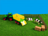 Farma set kravičky, ohrada a traktor s návěsem KIDS GLOBE FARMING