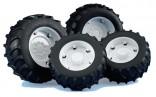 Dvojmontáž pneumatik s bílými ráfky série 2000 BRUDER 02323