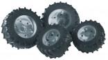 Dvojmontáž pneumatik se stříbrnými ráfky série 3000 BRUDER 03317