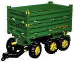 Přívěs sklopný JOHN DEERE MULTI TRAILER za šlapací traktory ROLLY TOYS