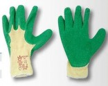 Rukavice pracovní DIPPER LATEX zelené