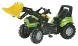 Traktor šlapací DEUTZ FAHR AGROTRON 7250 TTV s čelním nakladačem ROLLY TOYS