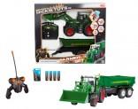 Dickie RC Farmer set traktor FENDT s návěsem 40 Mhz 1:20