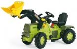 Traktor šlapací MB TRAC 1500 s čelním nakladačem ROLLY TOYS