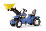 Traktor šlapací NEW HOLLAND TD 5050 s čelním nakladačem ROLLY TOYS