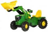 Rolly Toys Traktor šlapací JOHN DEERE 6210 R s čelním nakladačem