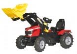 Traktor šlapací MASSEY FERGUSON 8650 s čelním nakladačem ROLLY TOYS