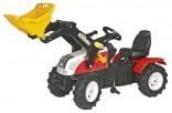Traktor šlapací STEYR CVT 6225 s čelním nakladačem ROLLY TOYS