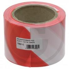 Páska výstražná červenobílá 80 mm návin 100 m