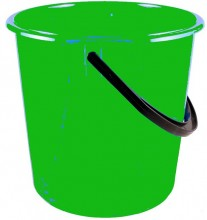 Kbelík 10 L plastový zelený