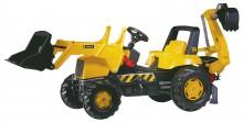Traktor šlapací dětský JCB s čelním nakladačema a podkopovou lopatou ROLLY TOYS