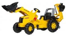 Traktor šlapací NEW HOLLAND s čelním nakladačem a podkopovou lopatou ROLLY TOYS