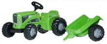 Traktor šlapací FUTURA TRAC s čelním nakladačem a návěsem ROLLY TOYS