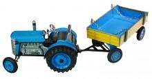 Traktor ZETOR modrý s přívěsem