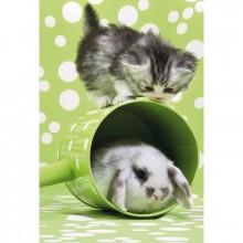 Puzzle Koťátko a králíček 150 dílů