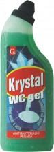 Mycí prostředek KRYSTAL WC GEL zelený 750 ml