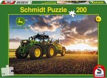 Puzzle Traktor JOHN DEERE 6150R s postřikovačem 200 dílů