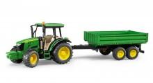 Traktor JOHN DEERE 5115 M s návěsem