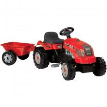 Traktor šlapací GM SMOBY s návěsem červený