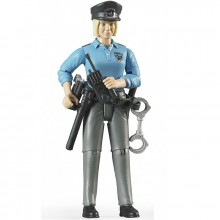 Figurka žena blond policistka BRUDER WORLD