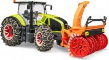 Traktor CLAAS AXION 950 s čelní frézou na sníh BRUDER 03017
