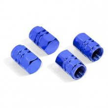 Čepička ventilku pneumatiky modrá sada 4 ks